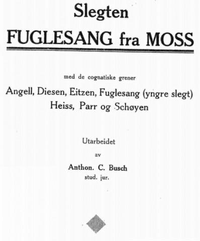 Slekten Fuglesang fra Moss