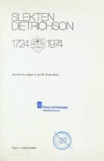 Slekten Dietrichson 1724-1974