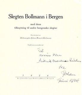 Slegten Bollmann i Bergen (1926)